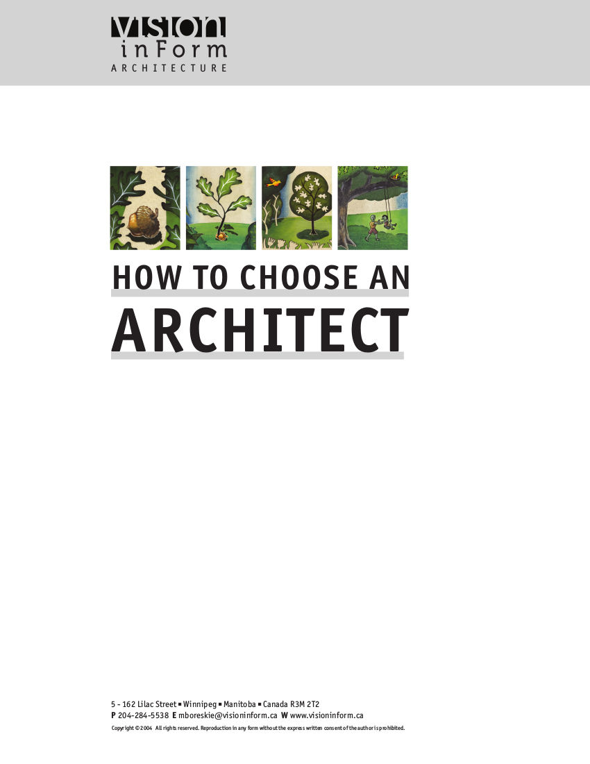 How to Choose an Architect